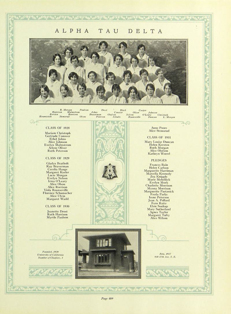 ATD 1929 University Minnesota
